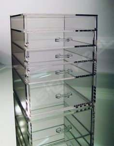 I NEEEEEEED this clear cube bin so much. I have about six of the roll around storage bins from Walmart/Target with opaque plastic drawers that start sagging when they get too heavy. Would love to be able to see all my stuff in a clear one like this!