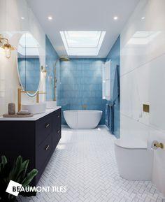 Upstairs Bathrooms, Dream Bathrooms, Beautiful Bathrooms, Modern Bathroom, Small Bathroom, Coastal Bathrooms, Bathroom Renos, Laundry In Bathroom, Bathroom Layout