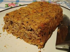 SCD Nut Roast - nuts, beans, vegetables and herbs.