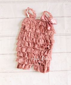 Blush Lace Romper..Girl Clothing..Newborn Homecoming Outfit..Baby's Bi – Suri Pie Creations