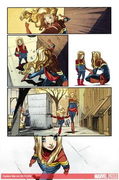 Preview Captain Marvel #10 by Kelly Sue DeConnick and Filipe Andrade! Which of Carol Danvers' powers would you most want? http://marvel.com/news/story/20022/sneak_peek_captain_marvel_10