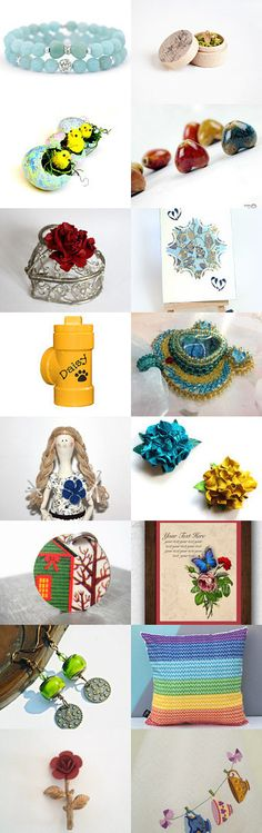 Colours of love by Nana on Etsy--Pinned with TreasuryPin.com