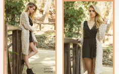 Look 8: Bubble Textured Knit Cardi with Surplice Romper #fw2015 #lookbook #cluce