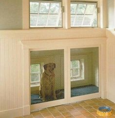 Check out more doghouse modifications for your home at the myWebRoom Blog! #Dogs #DIY Dog Furniture, Dog Furniture Ideas, Modern Dog Decor, Cool Dog Furniture