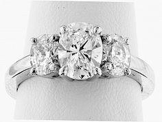Reiff Company in Philadelphia, Pennsylvania. Three Stone Engagement Rings, Diamond Engagement Rings, Wedding, Jewelry, Casamento, Jewlery, 3 Stone Engagement Rings, Jewels, Weddings