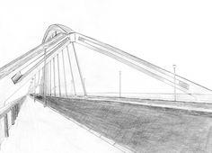 Puente de la Barqueta de Sevilla hecho a lápiz