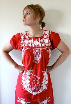 60s embroidered dress.