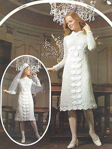 Knitting Pattern Wedding Dress : Vintage Wedding knitted items on Pinterest Vintage Knitting, Knitting Patte...