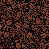 Patrón de granos de café — Archivo Imágenes Vectoriales