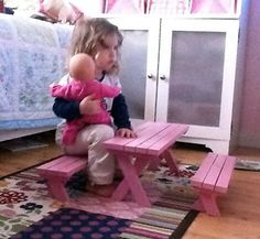 Diy toddler picnic tables and benches