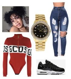 """""""Untitled #60"""" by marianafs ❤ liked on Polyvore featuring GCDS, NIKE and Rolex"""