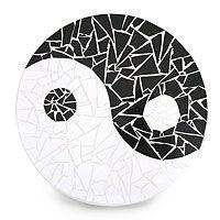 Mosaic lazy susan 'Yin and Yang' by Isabella Maroja