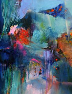 Lets meet there (by stricher gerard)  Abstract painting