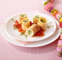 Überrasch doch mal deine Gäste mit Spargel und Frischkäse von der Rolle.