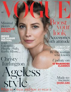 awesome Vogue UK Julho 2014   Christy Turlington por Patrick Demarchelier  [Capa]
