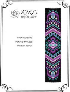 Peyote pattern for bracelet - Vivid treasure peyote bracelet pattern in PDF…