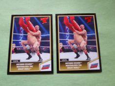 2013 TOPPS WWE BASE ANTONIO CESARO NNEUTRALIZES KHALI # 76 ( 2 CARD LOT )