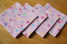 Easter Cloth Napkins  Large Reversible Set of 4 by AFaithfulStitch