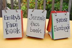 Face Books: this would be hilarious for our emotions unit!  And we could practice making different emotions Mo Willems style!