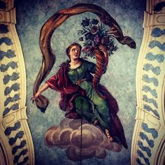 Ceiling (detail) Palacio del marqués de Pombal. #architecture #history #art // #Oeiras #Lisboa #Portugal