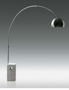 Retro Floor Lamp with White marble base - Now all I need is a white cat and a chair fit for a Villain.