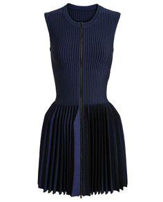 AZZEDINE ALAÏA | Pleated Stretch-Knit Dress | Browns fashion & designer clothes & clothing