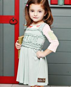 Matilda Jane Clothing // Harbor Gray Emilia Dress.  ruffles.  love.