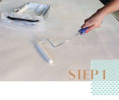 Prepping Roclon Canvas for Stenciling | Stencil your own fun Photo Booth Backdrop with Modern Stencils from Royal Design Studio