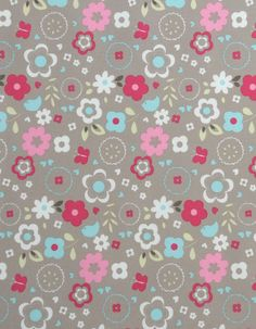 z. SAMPLE Cotton Fabric Retro Floral Taupe Retro Floral, Fabric Samples, Different Fabrics, Taupe, Cotton Fabric, Colour, Inspiration, Ideas, Fashion