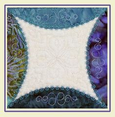 The Block was made in the Hoop. The digitizing was done in 5D QuiltDesign Creator and 5D Embroidery Extra.