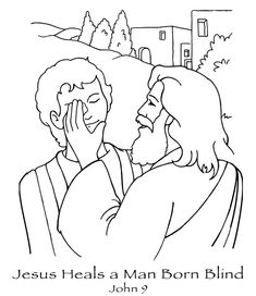 free coloring pages printable Jesus heals the blind man | jesus heals blind man