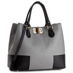 Kabelka CREOLE - K10396  Szary/Czarny Bags, Fashion, Handbags, Moda, La Mode, Dime Bags, Fasion, Lv Bags, Purses