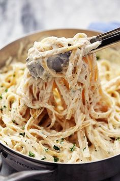 The Best Homemade Alfredo Sauce Ever! This alfredo sauce is awesome on top of just about any pasta but is also delicious used as a dip or even spread on pizza.  The Recipe Critic
