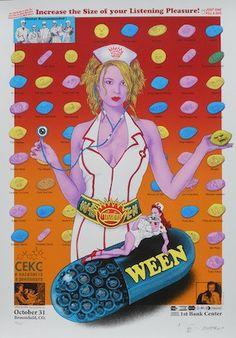 2010 Ween - Broomfield Silkscreen Concert Poster by Emek