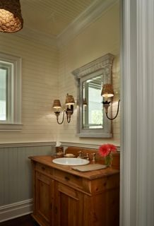 wainscotting - board & batten -   Cottage Company - Harbor Springs