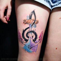 #tattoofriday - Kelvin Gabriel: cores marcantes e muito estilo - tatuagens em aquarela. Taubaté, SP, Brasil;