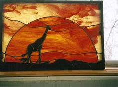 African Sunset With Giraffe by Conijash on Etsy, $260.00