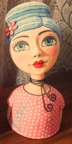 Paper Clay Art, Paper Mache Crafts, Doll Crafts, Paper Mache Sculpture, Pottery Sculpture, Paper Dolls, Art Dolls, Diy Crafts For Home Decor, Polymer Clay Figures