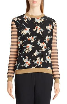 Marni Stripe & Floral Print Sweater available at #Nordstrom