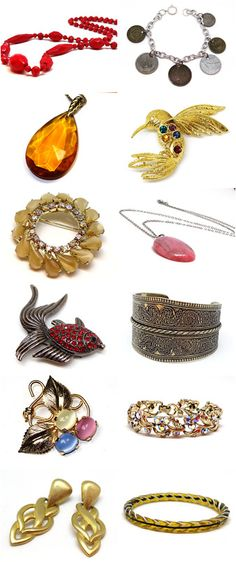 Here are some of the items for sale in my Vintage Jewelry Shop on Etsy...