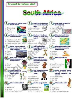 South Africa - ESL worksheet by Jayce