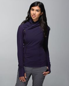 Release Date: 10/2014. Original Price: $118. Materials: Luon, Luxtreme. Why we made this We love to hang on to that post-yoga high for as long as possible after class. This tight-fitting jacket was designed with a cozy collar so we stay blissed out on the walk h'ommmmm.Key features cottony-soft Luon® fabric is engineered for serious stretch and recovery ribbed Luxtreme® fabric panels give you freedom to move fabrics are sweat-wicking, four-way stretch and breathable a zipper on ...
