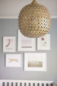 light fixture by serena & lily | Nursery Tour With Jen Pinkston | theglitterguide.com