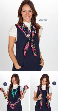 Styling the silk scarf - Vera Bradley I know the model :)