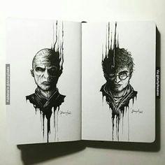 Lord Voldemort Harry Potter . . . #artforgeeks