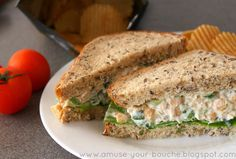 I've seen chickpea salads similar to this several times in various places, and they're usually referred to as a vegetarian version of tuna mayonnaise. I have absolutely no idea why, because if the smell of tinned tuna is anything to go by, this chickpea version is infinitely nicer. I often find sandwiches a bit boring …