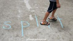 Gross Motor Phonics Game - Walk the Word (Photo from Coffee Cups and Crayons)