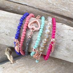 Mooie armbanden met luxe top facet kralen en nieuwe Polaris cabochons