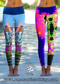 Live the Joy with Om Shanti Power Pants available online at OmShantiClothing.com #Yoga #Leggings