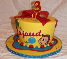 Bithday Cake, Birthday Cake Smash, Birthday Cake Girls, Baby Birthday, 1st Birthday Parties, Birthday Ideas, Curious George Party, Curious George Birthday, Party Cakes